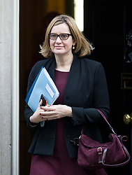 © Licensed to London News Pictures. 30/01/2018. London, UK. Home Secretary Amber Rudd leaving Downing Street after attending a Cabinet meeting this morning. Photo credit : Tom Nicholson/LNP