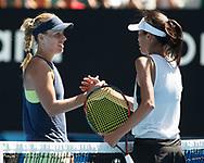 SU-WEI HSIEH (TPE) gratuliert der Siegerin ANGELIQUE KERBER (GER)<br /> <br /> Tennis - Australian Open 2018 - Grand Slam / ATP / WTA -  Melbourne  Park - Melbourne - Victoria - Australia  - 22 January 2018.