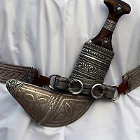 Oman, Ra's al-Hadd. February/07/2008...A traditional Omani Khanjar worn on ceremonial occassions.