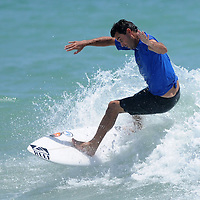 Ben Bourgeois surfs Sunday July 13, 2014 during the 9th Annual O'Neil/Sweetwater Pro-Am Surf Fest at Wrightsville Beach, N.C. (Jason A. Frizzelle)