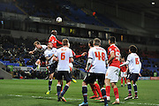 Charlton's final attempt before the final whistle during the Sky Bet Championship match between Bolton Wanderers and Charlton Athletic at the Macron Stadium, Bolton, England on 19 April 2016. Photo by John Marfleet.