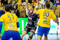 Simon Jeppsson of SG Flensburg-Handewitt during handball match between RK Celje Pivovarna Lasko and SG Flensburg Handewitt in VELUX EHF Champions League, on November 26, 2017 in Dvorana Zlatorog, Celje Slovenia. Photo by Ziga Zupan / Sportida