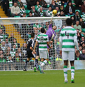 Dundee goalkeeper Scott Bain tips Celtic's Scott Brown's effort over the bar  - Celtic v Dundee - Ladbrokes Premiership at Celtic Park<br /> <br /> <br />  - © David Young - www.davidyoungphoto.co.uk - email: davidyoungphoto@gmail.com