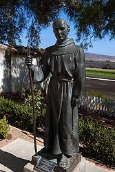 Statue of Father Junipero Serra at Mission San Juan Bautista, San Juan Bautista, California, United States of America