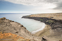 Green Sands beach, a popular destination on the southern end of the Big Island of Hawaii.