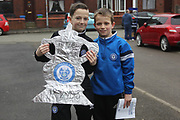 Tin Foil FA Cup, Young fans during the The FA Cup match between Rochdale and Tottenham Hotspur at Spotland, Rochdale, England on 18 February 2018. Picture by Daniel Youngs.