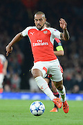 Arsenal striker Theo Walcott during the Champions League  Group F match between Arsenal and Bayern Munich at the Emirates Stadium, London, England on 20 October 2015. Photo by Alan Franklin.