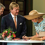 NLD/Maastricht/20140830 - Festivities on the occasion of the 200th jubilee of the Kingdom of the Netherlands in Maastricht - 200 Jaar Koninkrijk der Nederlanden, King Willem-Alexander, Queen Máxima and mayor Onno Hoes