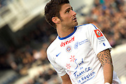 Montpellier striker Olivier Giroud. Toulouse v Montpellier HRC. Ligue 1, Stade Municipal, Toulouse, France, 27th April 2011.