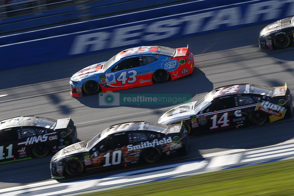 October 14, 2018 - Talladega, Alabama, United States of America - Darrell Wallace, Jr (43) battles for position during the 1000Bulbs.com 500 at Talladega Superspeedway in Talladega, Alabama. (Credit Image: © Justin R. Noe Asp Inc/ASP via ZUMA Wire)