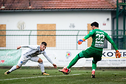 Matjaz Rozman saves Klemen Sturm's shot and preventing equalization of score during football match between NŠ Mura and NK Celje in 18th Round of Prva liga Telekom Slovenije 2018/19, on December 2, 2018 in Fazanerija, Murska Sobota, Slovenia. Photo by Blaž Weindorfer / Sportida