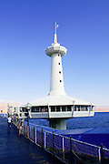 The underwater observatory Eilat, pop. 55,000, is Israel's southernmost city in the Southern District of Israel. Adjacent to the Egyptian city of Taba and Jordanian port city of Aqaba, Eilat is located at the northern tip of the Gulf of Aqaba, which is the eastern sleeve of the Red Sea.