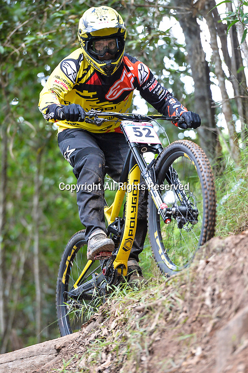 22.04.2016. Cairns,Australia. UCI Mountain Bike World Cup. Downhill qualifying. Mick Hannah from Australia riding for  POLYGON UR finishes second fastest in qualifying.