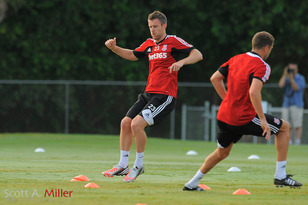 Stoke City Potters midfielder Michael Tonge (23) during a training session at the Seminole Soccer Complex on July 27, 2012 in Sanford, Florida. ..©2012 Scott A. Miller..