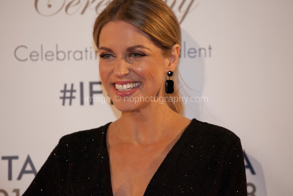 Amy Huberman at the IFTA Film & Drama Awards (The Irish Film & Television Academy) at the Mansion House in Dublin, Ireland, Thursday 15th February 2018. Photographer: Doreen Kennedy