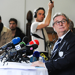 Jacky Lorenzetti President of Racing 92 during the press conference to explain the draft terms of merger of Racing 92 and Stade Francais Paris on March 13, 2017 in Paris, France. (Photo by Baptiste Fernandez/Icon Sport)