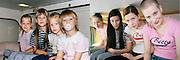 In the bath tub and on the ski slope: Photographer recreates a host of childhood holiday snaps 20 years on with her sisters<br /> <br /> A Finnish photographer set out to recreate childhood holiday pictures taken by her father 20 years ago with amusing and touching results.<br /> Wilma Hurskainen rounded up her three younger sisters and set off for the destinations they visited with their parents - and this time she directed the shots herself.<br /> The four siblings did their best to mimic the original images, which were taken between 1986 and 1990. They struck the same poses and imitated their facial expressions, acknowledging the difficulty encountered in family photos when everyone needs to look at the camera at the same time.<br /> They even tried to pay homage to their '80s fashions by wearing the same colours and styles of outfit - sporting matching tops or hoodies in different colours.<br /> In the series, titled 'Growth', Hurskainen snapped the scenes as closely as she could to her dad's efforts, to give a glimpse of how much the sisters have physically grown over the past 20 years.<br /> The matching sailor dresses might now be a thing of the past, but the siblings effortlessly slip into their younger roles - and now they are even taller than their mother.<br /> <br /> In one particularly poignant shot, the grown-up sisters pose on a sofa but cannot fully recreate the shot as their grandfather has since died.<br /> Hurskainen wrote on her website that she would love to get her sisters together again for a new set of the photos as they get older.<br /> The photographer told the My Modern Metropolis website: 'The most important thing is that in the end my sisters were pleased with the whole thing.<br /> 'It was sometimes a little hard finding the places of the original photos, finding the proper clothing and dealing with the emotions that emerged because of the process of digging up the past.'<br /> <br /> Photo shows: Having to crane their necks, the sisters have outgrown the cabin<br /> ©Wilma Hurskainen /exclusivepix