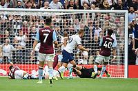 Football - 2019 / 2020 Premier League - Tottenham Hotspur vs. Aston Villa<br /> <br /> Tottenham Hotspur's Harry Kane scores his side's third goal, at The Tottenham Hotspur Stadium.<br /> <br /> COLORSPORT/ASHLEY WESTERN