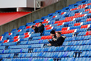 Picture by David Horn/Focus Images Ltd +44 7545 970036<br /> 09/11/2013<br /> General View of Selhurst park showing fans eating pies before the Barclays Premier League match at Selhurst Park, London.