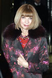 ©London News pictures. 21.02.2011. American Vogue Editor Anna Wintour leaves an event at No 10 Downing Street hosted by Prime Minister's wife Samantha Cameron to celebrate the UK's fashion industry. Picture Credit should read Carmen Valino/LNP
