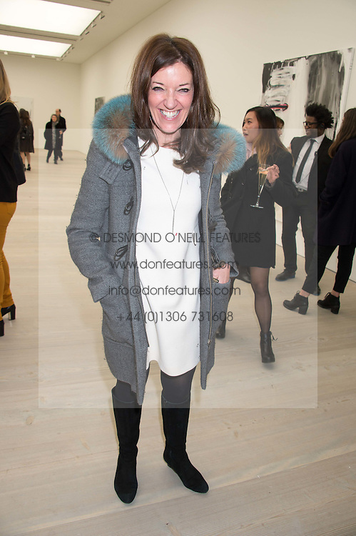 VICTORIA HISLOP at the opening of the exhibition Champagne Life in celebration of 30 years of The Saatchi Gallery, held on 12th January 2016 at The Saatchi Gallery, Duke Of York's HQ, King's Rd, London.
