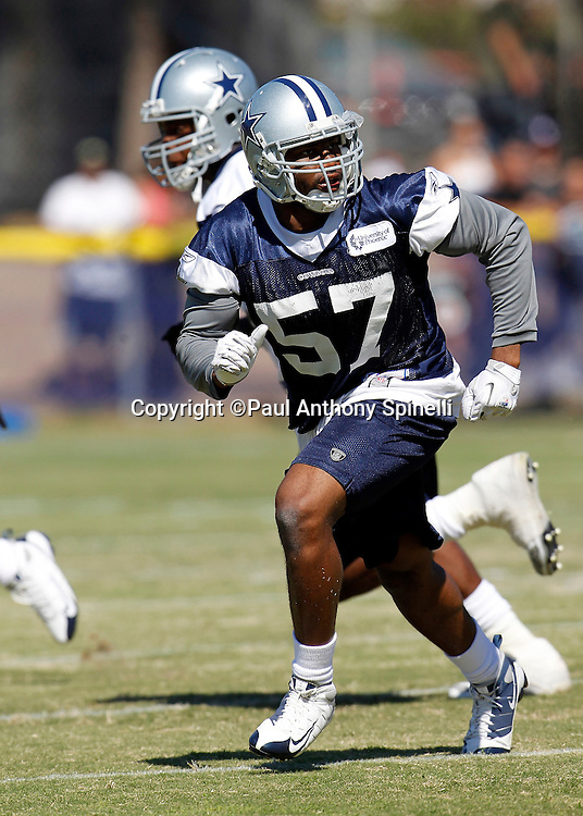 Dallas Cowboys linebacker Victor Butler (57) chases the action during NFL football training camp on Wednesday, August 18, 2010 in Oxnard, California. (©Paul Anthony Spinelli)