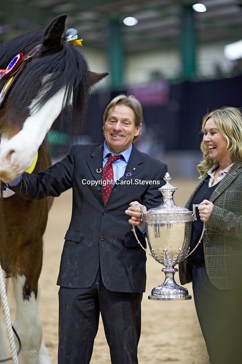 Walt Bedford showing  Bill Bedford's LANDCLIFFE CHARLIE  with Harry Bedford<br />