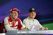 March 27-29, 2015: Malaysian Grand Prix - Sebastian Vettel (GER), Ferrari, Nico Rosberg  (GER), Mercedes