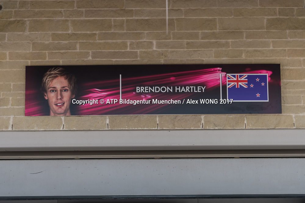 Brendon HARTLEY, NZL, Team Scuderia Toro Rosso,  <br /> Toro Rosso STR12, Renault RE17 engine<br /> Formula One, F1 Grand Prix in Austin, TEXAS, USA 2017 - on 20. October,  Formula One, Formel 1, Formule 1  - circuit of the Americas.<br /> Photo Credit: &copy; ATP / Alex WONG / www.photosport.nz