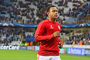 Memphis Depay of Manchester United before the Champions League Qualifying Play-Off Round match between Club Brugge and Manchester United at the Jan Breydel Stadion, Brugge, Belguim on 26 August 2015. Photo by Phil Duncan.
