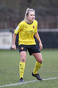 Josie Green during the Women's FA Cup match between Watford Ladies FC and Brighton Ladies at the Broadwater Stadium, Berkhampstead, United Kingdom on 1 February 2015. Photo by Stuart Butcher.