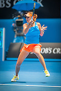 Belinda Bencic (SUI) faced Li Na (CHN) in day three play at the 2014 Australian Open. Li Na defeated Bencic 6-0, 7-6 at Melbourne's Rod Laver Arena.
