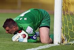 Goalkeeper of Koper Ermin Hasic at football match  NK Koper vs NK Domzale in 29th round of Prva Liga Telekom Slovenije, on April 19, 2008, in Bonifika stadium in Koper. Match ended with  2:2 draw. (Photo by Vid Ponikvar / Sportal Images)