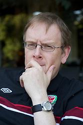 NOVI SAD, SERBIA - Tuesday, September 11, 2012: Wales' head of international affairs Mark Evans at the Park Hotel in Novi Sad, Serbia. (Pic by David Rawcliffe/Propaganda)