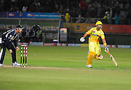 MS Dhoni during match 13 of the Airtel CLT20 between The Superkings and the Victorian Bushrangers held at St Georges Park in Port Elizabeth on the 18 September 2010..Photo by: Deryck Foster/SPORTZPICS/CLT20