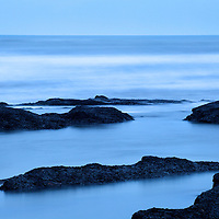 Rocks and Sea at Dusk