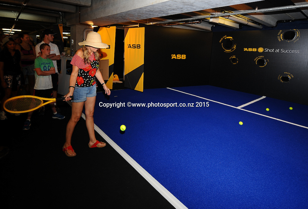 Activities at the ASB Classic Women's International. ASB Tennis Centre, Auckland, New Zealand. Friday 9 January 2015. Copyright photo: Chris Symes/www.photosport.co.nz