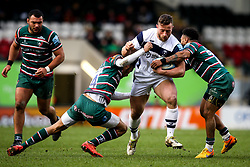 Max Lahiff of Bristol Bears is tackled - Mandatory by-line: Robbie Stephenson/JMP - 04/01/2020 - RUGBY - Welford Road - Leicester, England - Leicester Tigers v Bristol Bears - Gallagher Premiership Rugby