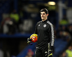 Thibaut Courtois of Chelsea warms up on his return from injury - Mandatory byline: Robbie Stephenson/JMP - 05/12/2015 - Football - Stamford Bridge - London, England - Chelsea v AFC Bournemouth - Barclays Premier League