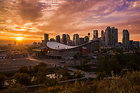 Scotiabank Saddledome & Downtown Calgary @ Sunset