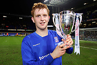 Fotball<br /> England historie<br /> Foto: Colorsport/Digitalsport<br /> NORWAY ONLY<br /> <br /> Ipswich Youth Captain, Liam Craig celebrates with the trophy. Ipswich Town v Southampton. FA Youth Cup Final 2nd leg @ Portman road.