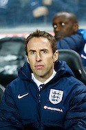 Picture by David Horn/Focus Images Ltd +44 7545 970036<br /> 14/11/2013<br /> Gareth Southgate , Manager of England Under 21 before the European U21 Championship match at stadium:mk, Milton Keynes.