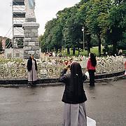 Documentary Photography shot on an Olympus Trip 35 Camera.  Lourdes, France.