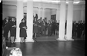 03/02/1964<br /> 02/03/1964<br /> 03 February 1964 <br /> Opening of Coras Trachtala Japanese Design Exhibition at Municipal Art Gallery, (The Hugh Lane Gallery) Dublin. A general view of the attendance at the opening.