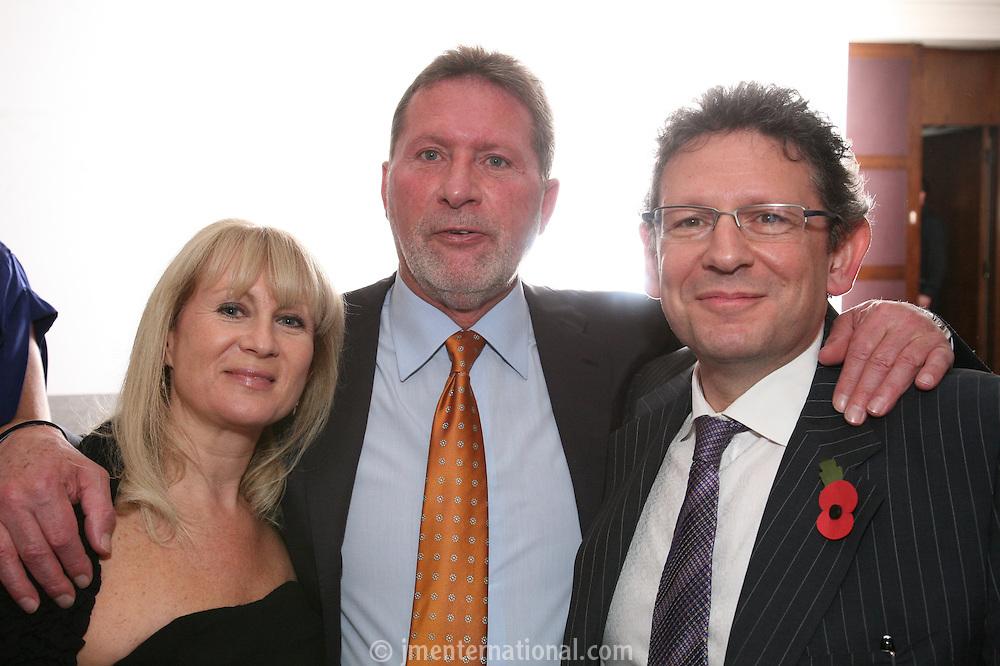 Caroline Grainge, John Knowles and Lucian Grainge