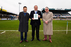 Chairman Steve Hamer receives an original Pirate sketch as a gift to the club - Rogan Thomson/JMP - 11/02/2017 - FOOTBALL - Memorial Stadium - Bristol, England - Bristol Rovers v Bradford City - Sky Bet League One.