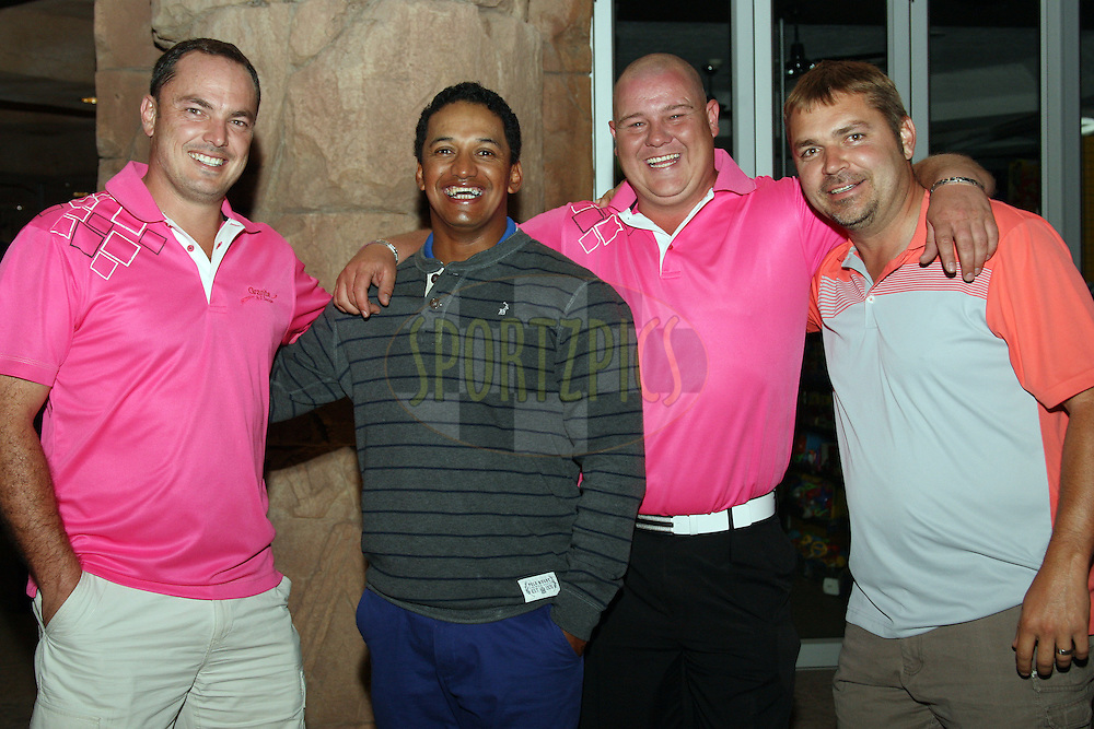 Braam Haasbroek, Breyton Paulse, Johan Dreyer and Johnny Denny during the Halfway Dinner of the Sanlam Cancer Challenge Finals held at Valley of the Waves in Sun City near Johannesburg on the 22nd October 2013. Photo by Jacques Rossouw - SPORTZPICS