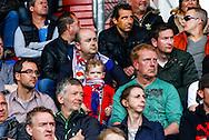17-04-2016 VOETBAL:WILLEM II-ADO DEN HAAG:TILBURG<br /> Jonge supporters beleven een middagje voetbal met hun ouders op de tribune, kinderen, vader, moeder, sfeer<br /> <br /> Foto: Geert van Erven