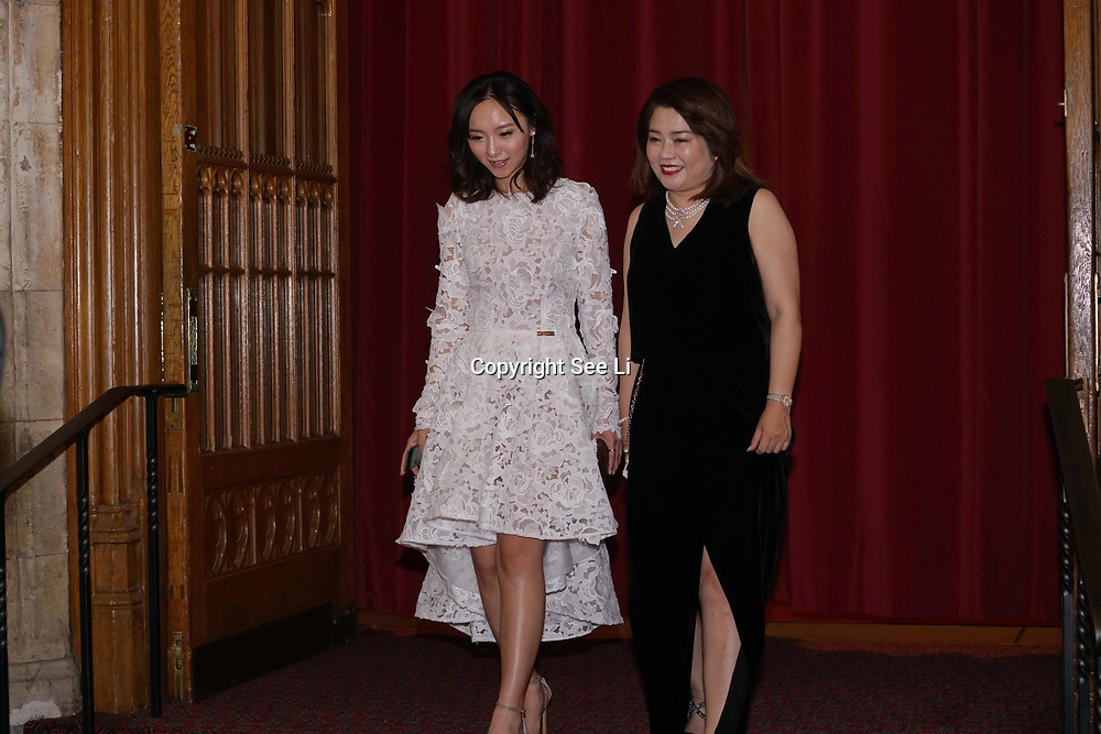 London,England,UK. 31th March 2017: Jin Shu Li and Lui Jing awards winners at the Athene Festival 2017 at Guildhall,London,UK. by See Li