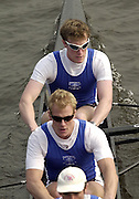 2003 - Rowing - Head of the River Race, Championship Course, River Thames, London. Shot from Chiswick Bridge. IC 1 - Andrew Dunn bow and Ric Dunn No.2  [Mandatory Credit; Peter Spurrier  / Intersport Images]